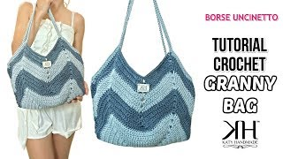"TUTORIAL BORSA UNCINETTO ""GRANNY BAG"" - Crochet pattern ● Katy Handmade"