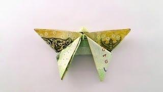 Repeat youtube video Origami THB Bill Butterfly / พับผีเสื้อจากธนบัตร