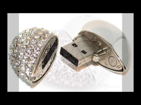 Pretty Cool, Cute Designer Jewelry USB Flash Drives for girls!