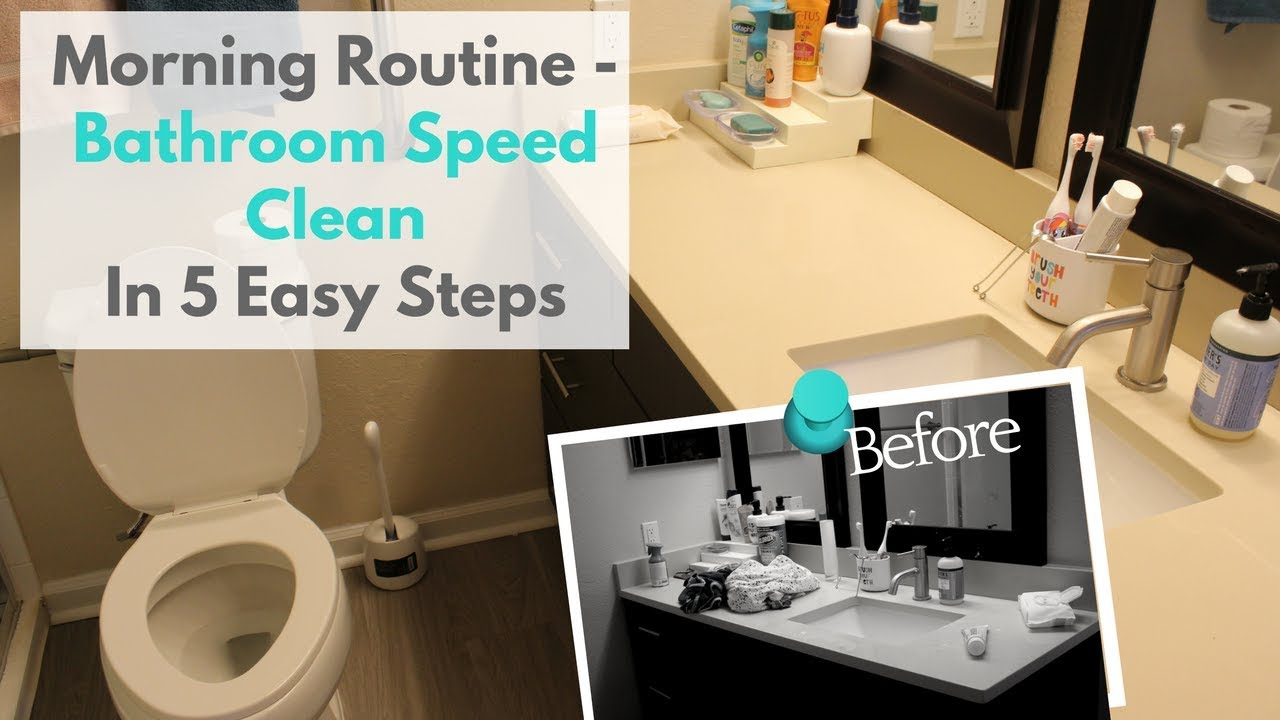 Bon How To Speed Clean Bathroom In 5 Easy Steps