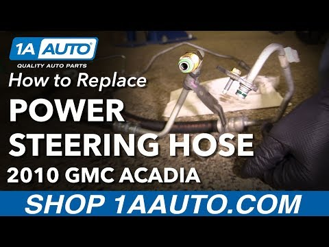 How to Replace Power Steering Pressure Hose Line 07-16 GMC Acadia