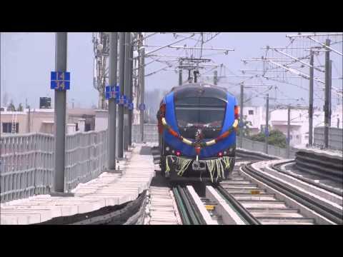Koyambedu Alandur Metro train leaves Vadapalani station