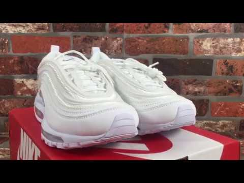 Nike Air Max 97 White On Feet Review Youtube