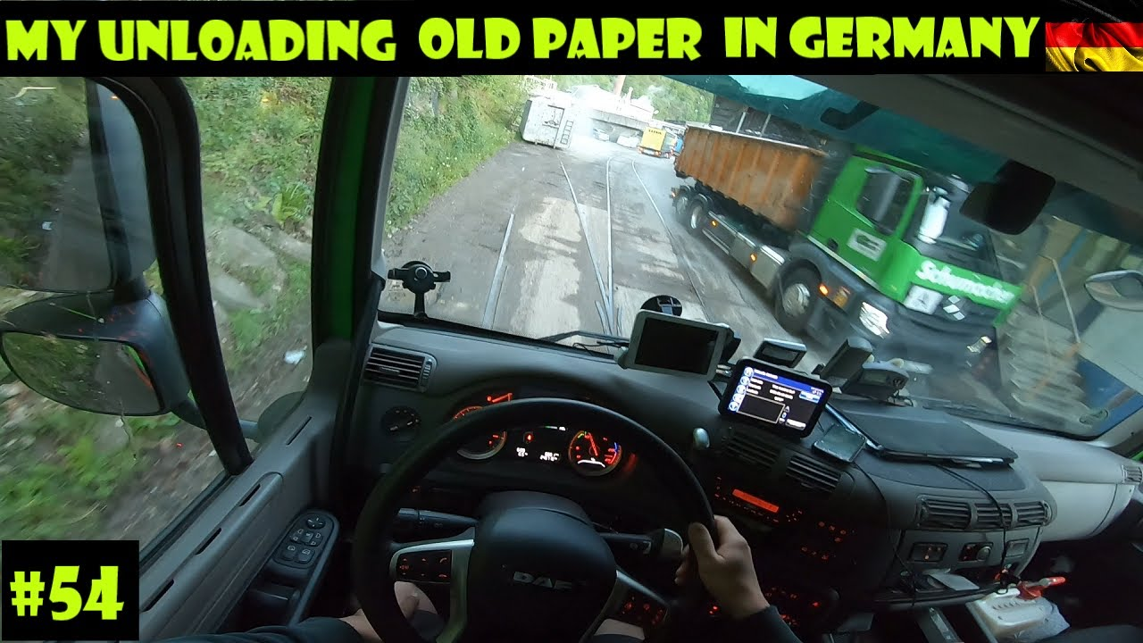 My Unloading Old Paper in Germany + POV Truck Driving Daf CF 450 I #54