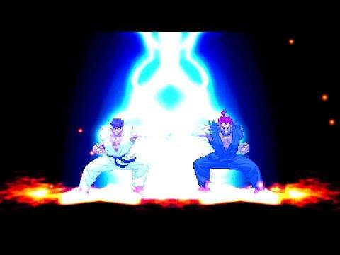 mugen---ikemen---street-fighter---ryu-vs.-akuma-(gouki)---隆-vs.-豪鬼