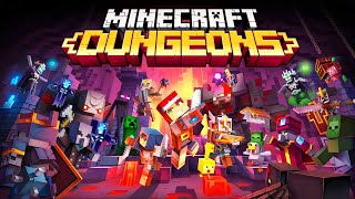 NEW FAVORITE GAME - NEAR THE END Battling Invading Enemy Armies in Minecraft Dungeons Gameplay