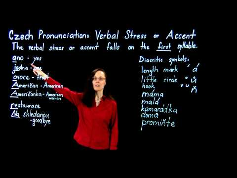 Czech Pronunciation- Verbal Stress or Accent