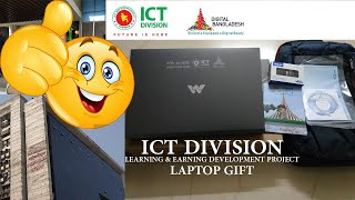 ICT Division Learning Earning Development Project Laptop Gift