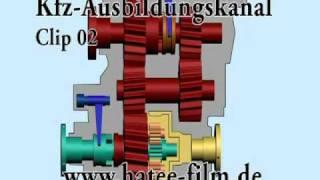 Animation Verteilergetriebe Clip 02