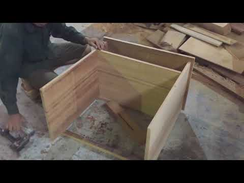 Woodworking Fastest and Easiest - Building Laptop Desk Have Drawers, How To, DIY, (Part 1)