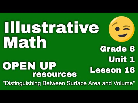 "6th Grade Illustrative Math: Unit 1, Lesson 16 ""Distinguishing Between Surface Area and Volume"" thumbnail"