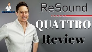 NEW ReSound LiNX Quattro Made for Android & iPhone Hearing Aid Review!