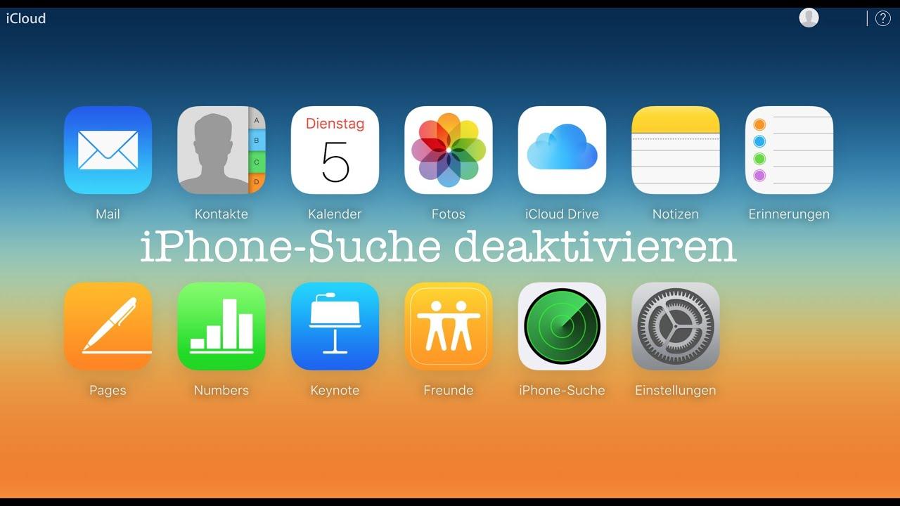 Mein Iphone Suchen Deaktivieren Pc