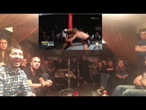 KHABIB Vs.JOHNSON. REACTION Russians Fans / UFC 205