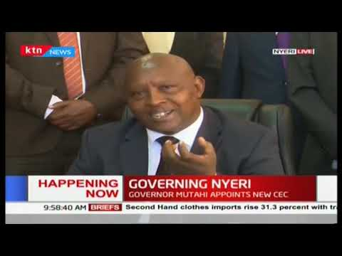 Mutahi Kahiga makes an appointment: Change of guards in Nyeri County Cabinet
