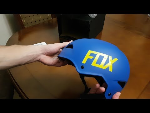 FOX RACING FLIGHT HARDSHELL HELMET matte blue unboxing
