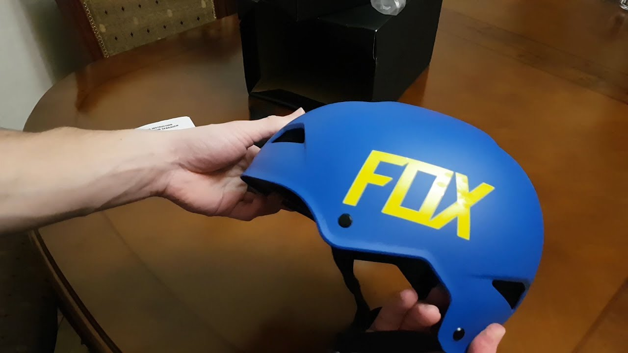 professional sale watch super cheap FOX RACING FLIGHT HARDSHELL HELMET matte blue unboxing - YouTube