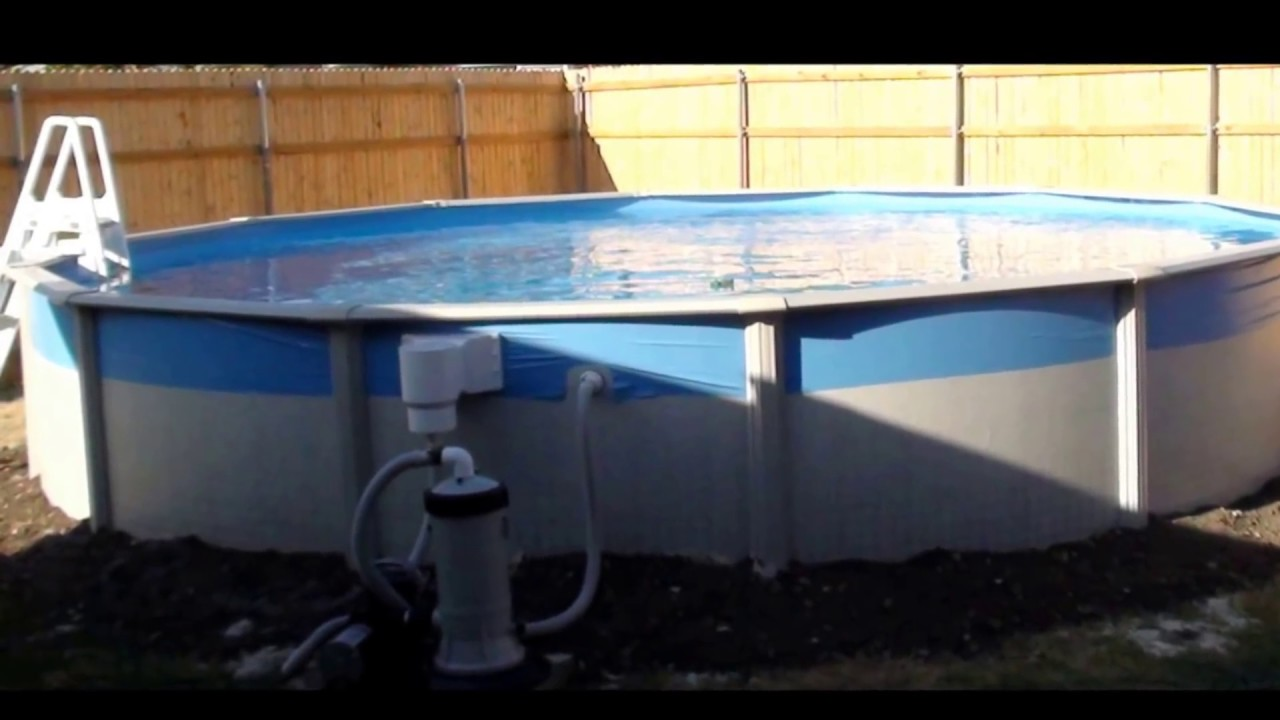 Above Ground Pool Installation In Unlevel Grounded