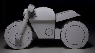 Papercraft Timelapse: paperbike m101 Ducati Monster model kit build