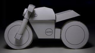 Papercraft Timelapse: paperbike m101 Ducati Monster model kit build