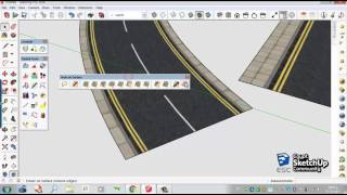 Video Curved road texture | SketchUp download MP3, 3GP, MP4, WEBM, AVI, FLV Desember 2017