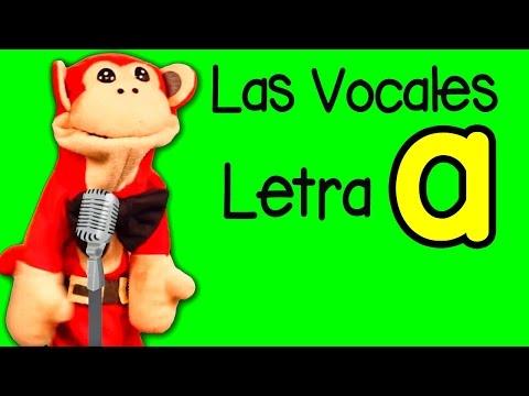 La Canción de las Vocales - A E I O U - Letra A - Show del Mono Sílabo - Canciones Infantiles #