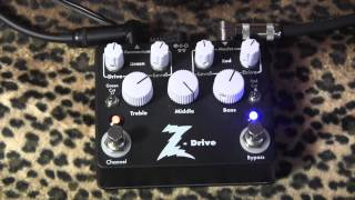 Dr Z Z-Drive overdrive demo with Antidote head/cab & R9 Les Paul