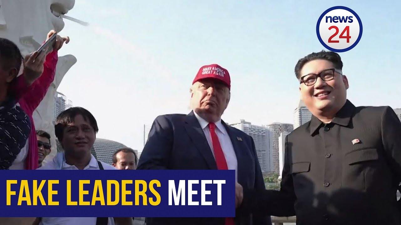 WATCH: Fake Kim Jong Un and Donald Trump meet in Singapore