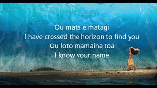Moana Know Who You Are (Lyric Video)
