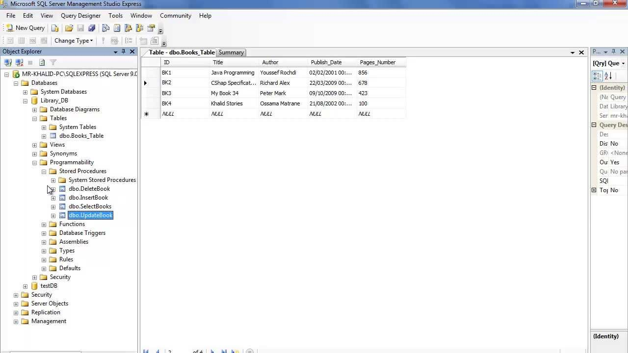 99. برمجة قواعد البيانات - استعادة نسخة احتياطية لقاعدة البيانات- Restore Database From Disk