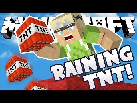 RAINING TNT TACTIC!! - Minecraft Bed Wars 3v3