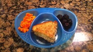 Toddler Meal Idea: Tuna Melt With Carrots And Blackberries