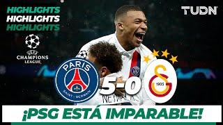Highlights | Paris Saint-Germain 5 - 0 Galatasaray | Champions League - J 6 - Grupo A | TUDN