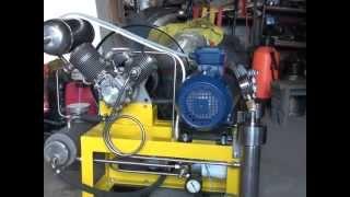 Компрессор высокого давления на базе АК-150 СВ(Самодельный компрессор высокого давления предназначен для сжатия газа (смесей газа) до давления 200-300 бар...., 2013-06-18T08:47:54.000Z)