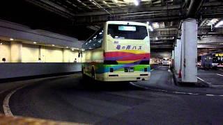 夜行高速バス 名鉄バスセンター 亀の井バス入線
