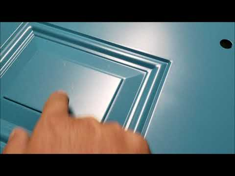 how to paint a front door with LATEX paint DIY using a conventional spray gun