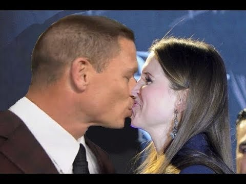 Stephanie Mcmahon & John Cena Hot Kiss - WWE John Cena kisses Stephanie Mcmahon in a Public Event thumbnail