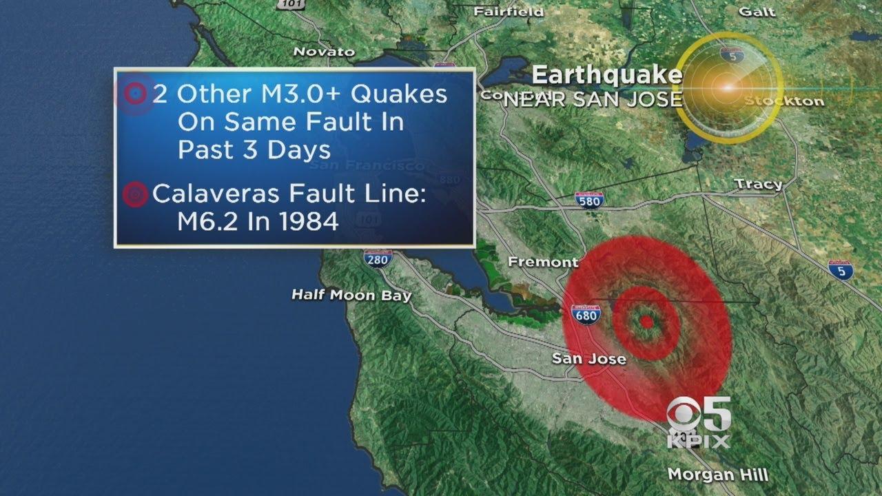 Earthquake Strike Shakes East San Jose Youtube