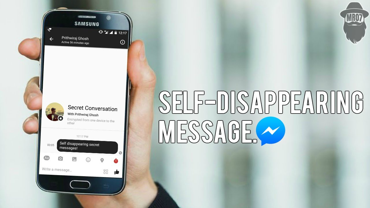 b12f54a31c3662 Secret Conversation   Self-Disappearing Message in Facebook Messenger   How-to