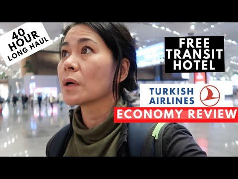 Turkish Airlines Economy Review + FREE Transit HOTEL + New ISTANBUL AIRPORT Tour