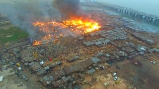 Dozens of homes destroyed in Nigerian fire