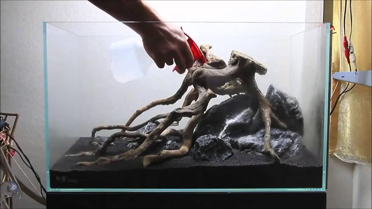 Грунт для акваиума и посадка растений - YouTube