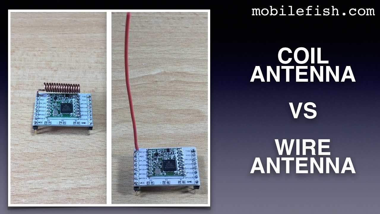 Create a LoRa node, part 6: Coil antenna vs wire antenna