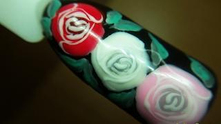 Роза на ногтях. Дизайн ногтей гель лаком nail design Shellac