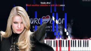 Ana Soklic - Voda (Eurovision 2020 - Slovenia) | Piano Instrumental Cover | Karaoke, Tekst