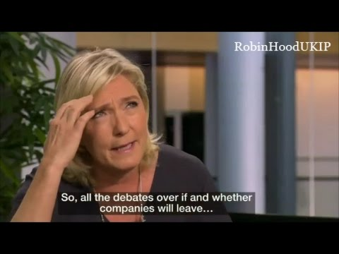 Marine Le Pen will not put up with any nonsense from BBC reporter