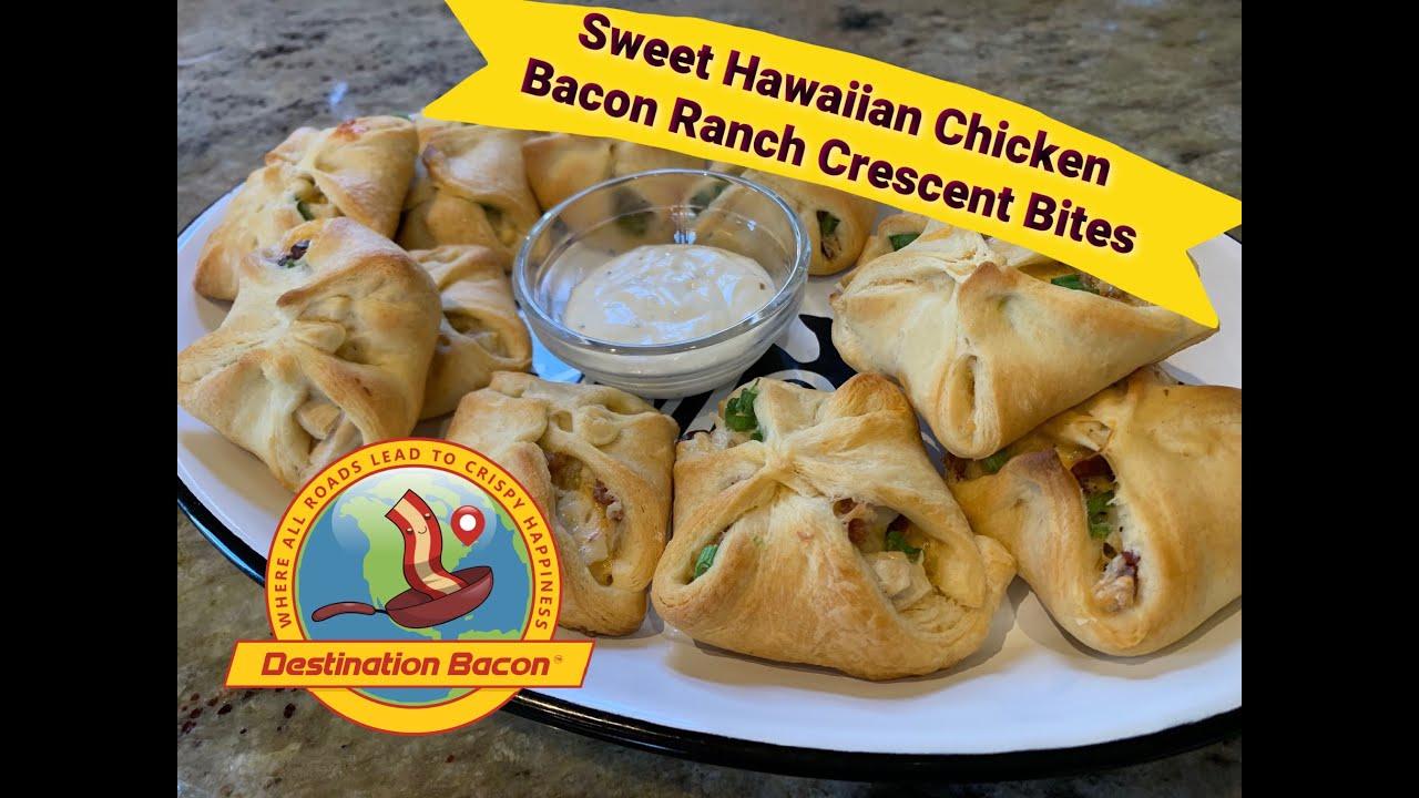 Sweet Hawaiian Chicken Bacon Ranch Crescent Bites