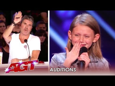Ansley Burns: 11-Year-Old FIGHTS On After Simon Stops Her! |
