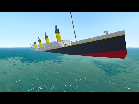 From the Depths, Sinking the RMS Titanic! (Minecraft Design)