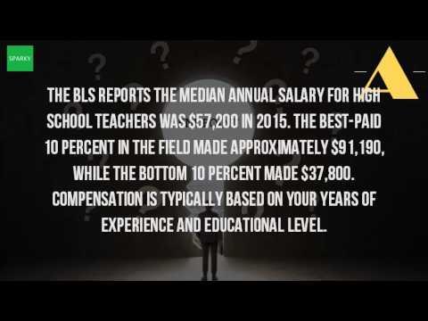 How Much Is A High School Teachers Salary?